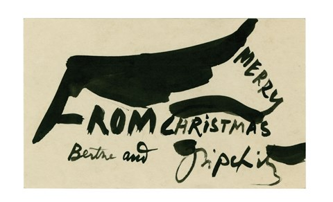 Jacques Lipchitz, Untitled (Merry Christmas), 1947 All Rights Reserved, Estate of Jacques Lipchitz. Hanno D. Mott, New York