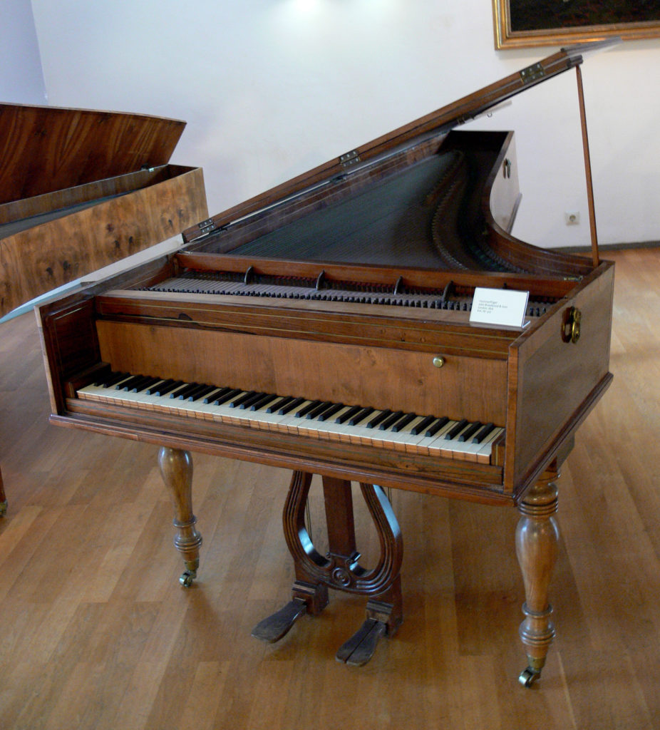 A Broadwood and Sons Piano. Image courtesy Wikimedia Commons