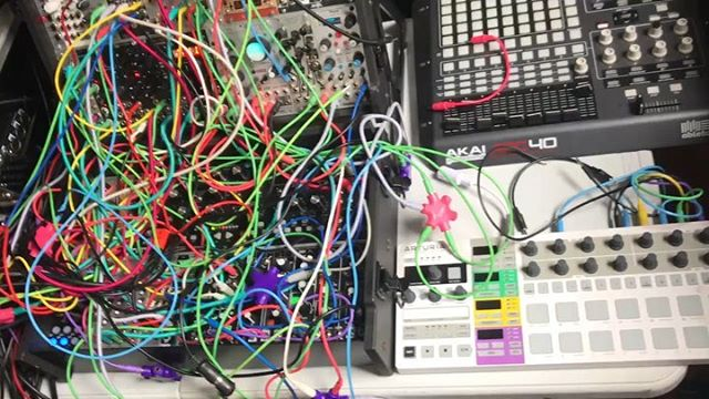 #organized #chaos with @cliffhines this afternoon! Finally made something happen together and hope to elaborate on it in the future! @sunhouseinc  #electronic #music #modular #synth #synthesizer #drum #trigger #human #machine #synchronize #play #learn #compute #lol #neworleans #pretty #colors #lights #things #sound #ableton @ableton #loop #loops #beats #beat