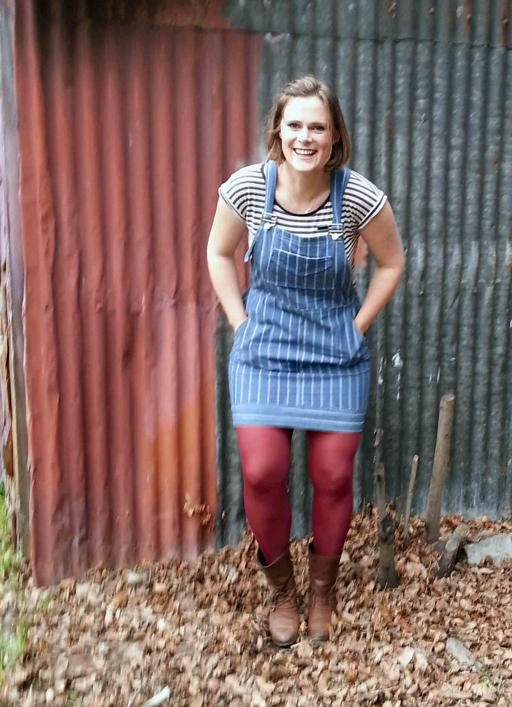 Pauline Alice Sewing Patterns Turia Dungarees Pinafore DIY Salt & Stitch