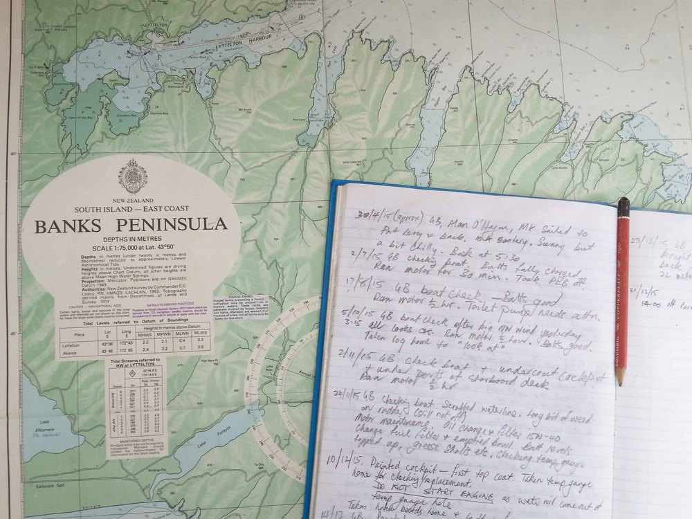 sailing chart banks peninsula