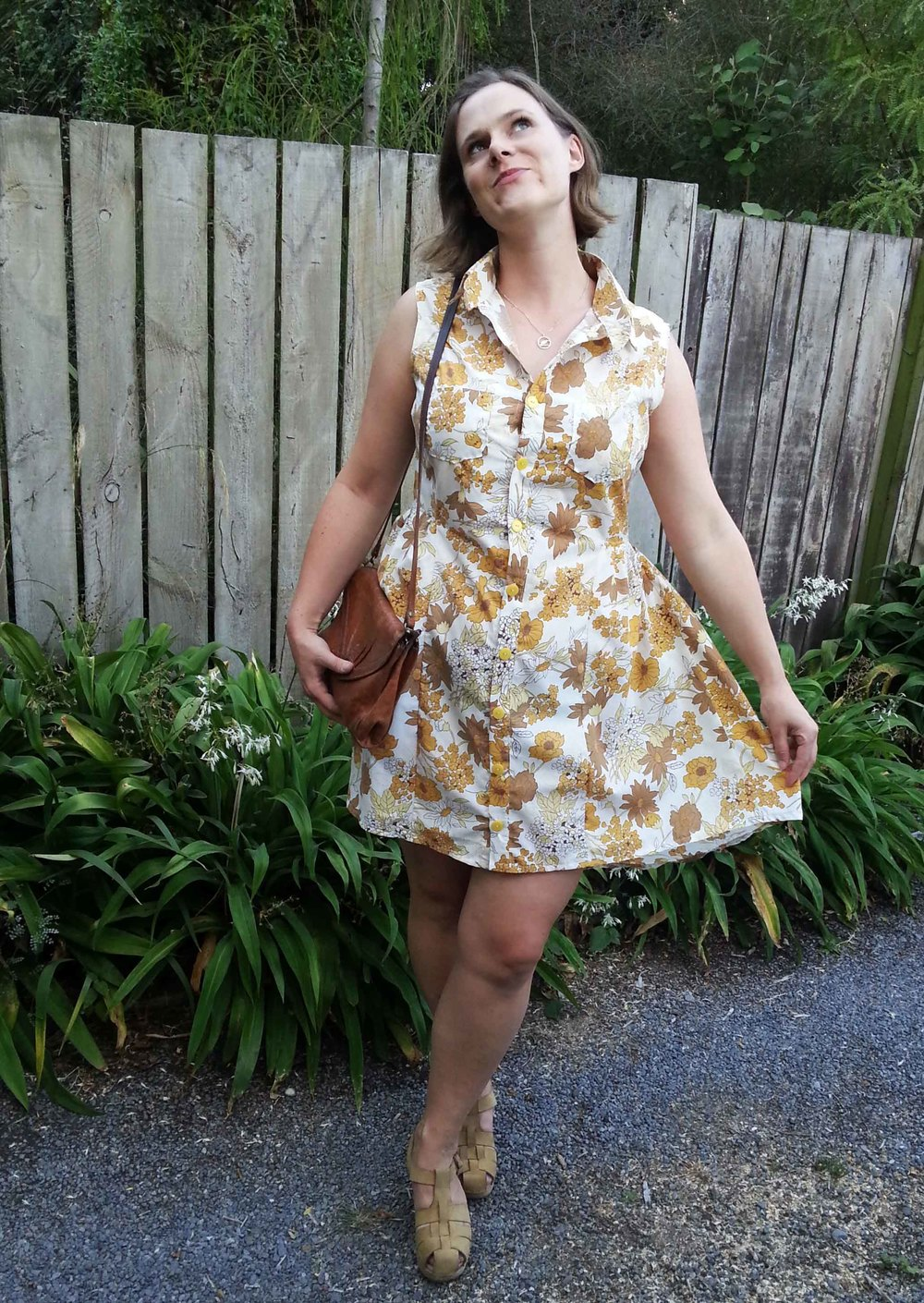 vintage floral shirt dress alder