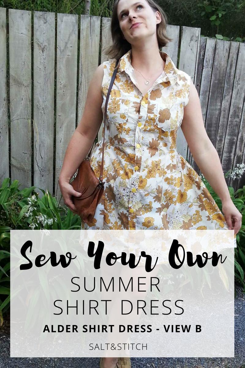 sew your own summer shirt dress alder shirt dress grainline studio