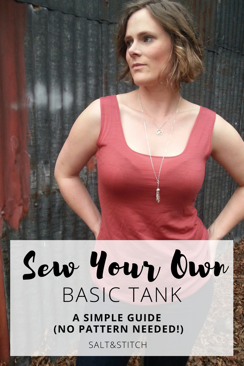 sew your own basic merino tank a simple guide no pattern needed