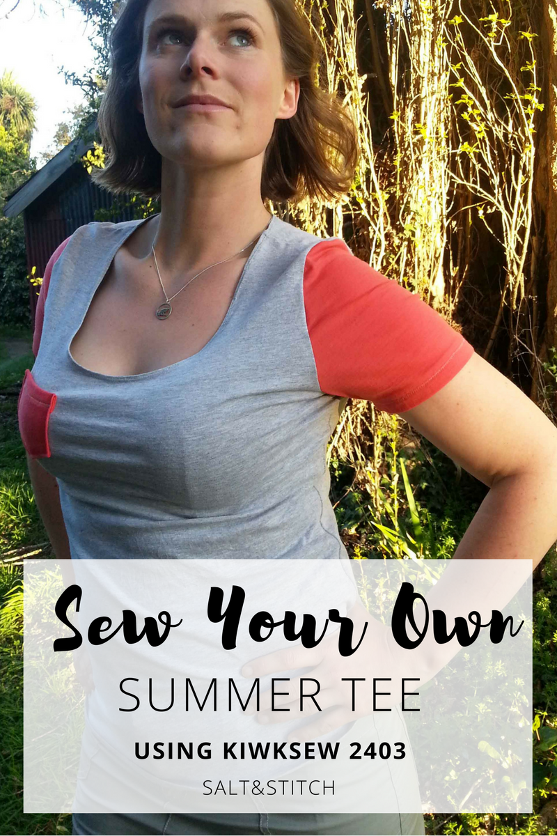 sew your own summer tee using kwiksew 2403