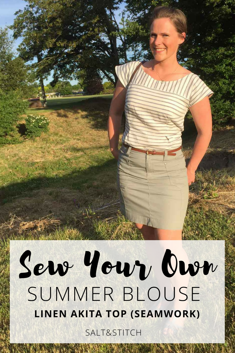 sew your own summer blouse: linen akita top by seamwork magazine