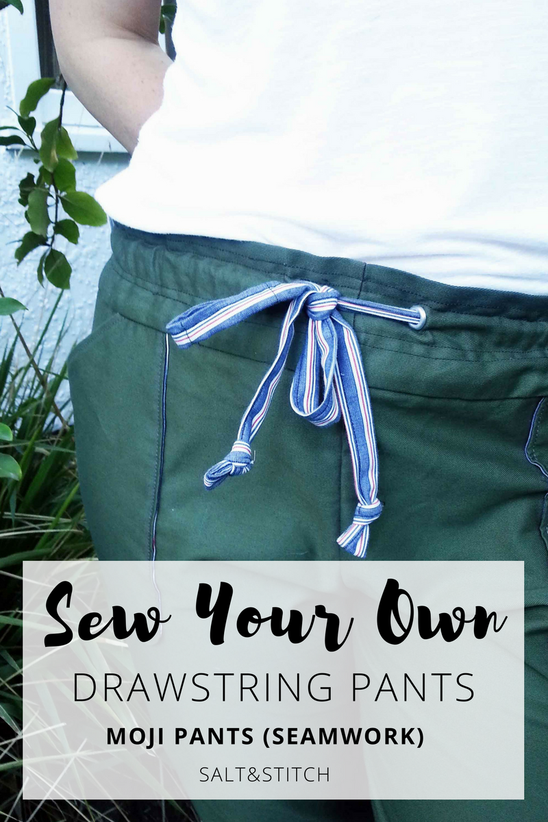 sew your own drawstring pants: moji pants by seamwork magazine