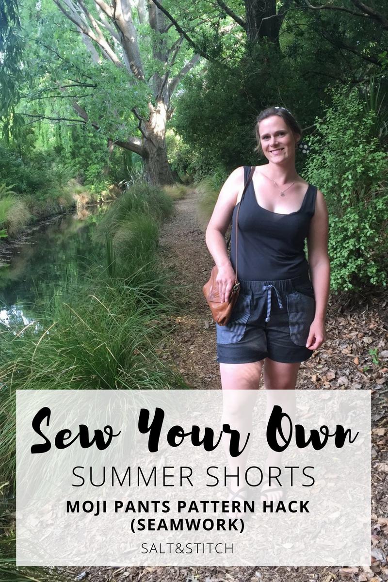 Pattern Hack: Summer shorts (Moji - Seamwork Patterns)