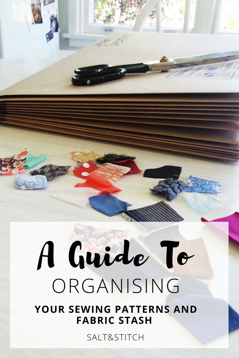 A guide to organising your sewing patterns and fabric stash