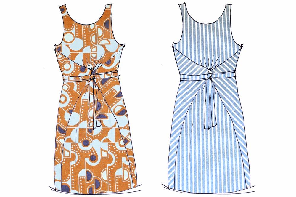 named patterns keilo wrap dress