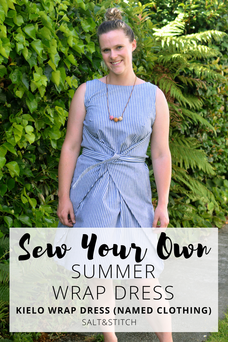 Sew Your Own Summer Wrap Dress - Kielo Wrap Dress by Named Patterns