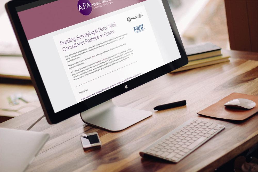 APA Property Services - Web Design / Development / Squarespace / Google Adwords Management