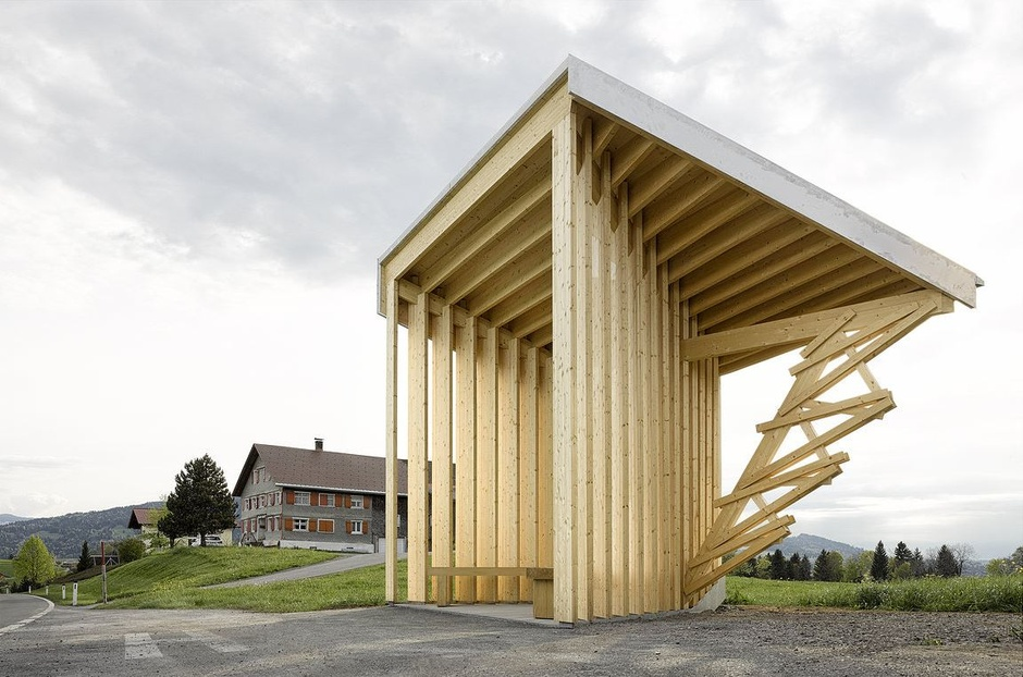 Wang Shu's take on the Bus Stop project.  (Photo by Adolf Bereuter)