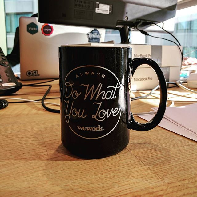 Yes we do #dowhatyoulove #tech #startup #entrepreneur #enterprise #innovation #design #wework