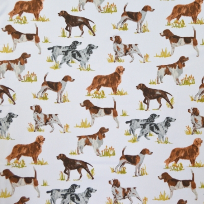 Hounds Tan 100% cotton 140cm | 64cm Curtaining
