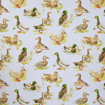 Mallard Watercolour 100% cotton 140cm | 64cm Curtaining