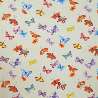 Sweet Butterfly Linen 100% cotton 140cm | 64cm Curtaining