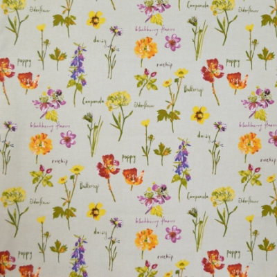 Wild Flowers Linen 100% cotton 140cm | 64cm Curtaining