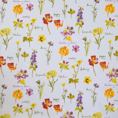 Wild Flowers Watercolours 100% cotton 140cm | 64cm Curtaining
