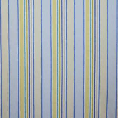 Addison Cornflower 100% Cotton 137cm |Vertical Stripe Curtaining