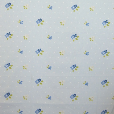 Amelia Cornflower 100% Cotton 137cm |16cm Curtaining