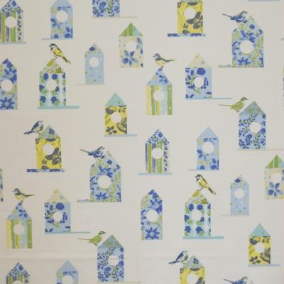 Aviary Cornflower 100%cotton 137cm |63cm Curtaining