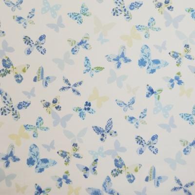 Butterfly Cornflower 100% cotton 137cm |63cm Curtaining
