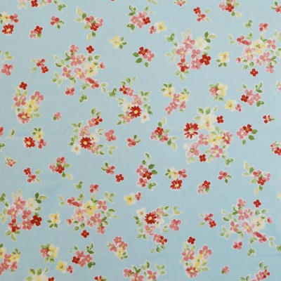 Posie Sky 100% cotton 137cm |63.7cm Curtaining