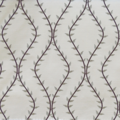 Fern Charcoal 46%Poly/42%Cott/12%Visc 140cm (useable 138cm) | 15.6cm Embroidery