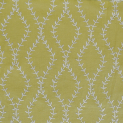 Fern Lime 46%Poly/42%Cott/12%Visc 140cm (useable 138cm) | 15.6cm Embroidery