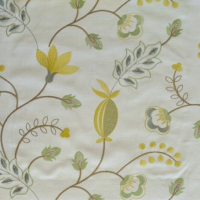 Fiorella Avocado 46%Poly/42%Cott/12%Visc 140cm (useable 128cm) |31.2cm Embroidery