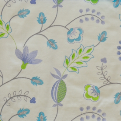 Fiorella Azure 46%Poly/42%Cott/12%Visc 140cm (useable 128cm) | 31.2cm Embroidery