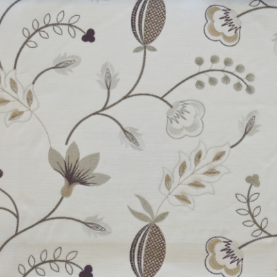 Fiorella Charcoal 46%Poly/42%Cott/12%Visc 140cm (useable 128cm) |31.2cm Embroidery