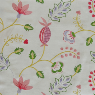 Fiorella Rosebud 46%Poly/42%Cott/12%Visc 140cm (useable 128cm) | 31.2cm Embroidery