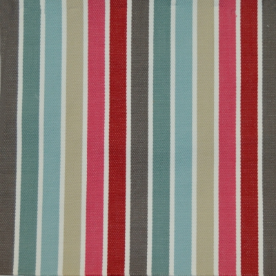 Houston Cranberry 82%Cott/18%Poly 153cm | Vertical Stripe Dual Purpose