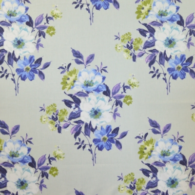 Rosabella Cobalt 100% cotton 140cm | 64cm Curtaining