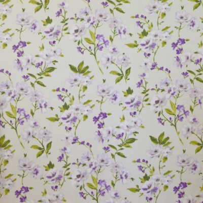 Sophia Amethyst 100% cotton 140cm | 64cm Curtaining
