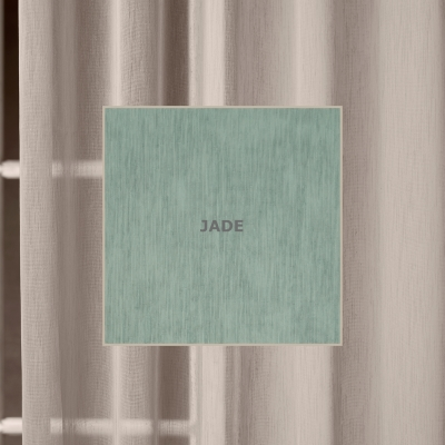 TRANQUIL JADE  300 x 218cm - unlined  300 x 250cm - unlined  500 x 218cm - unlined  500 x 250cm - unlined  100% Polyester