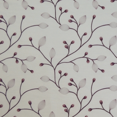 Reggio Mulberry   88%Poly/12%Viscose    140cm (useable 131cm) |   23.5cm    Curtaining