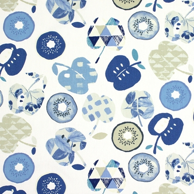 Bramley Indigo 100% cotton 137cm | 32cm Curtaining