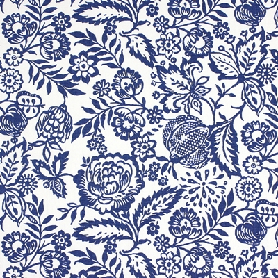Polly Indigo 100% cotton 137cm | 32cm Curtaining