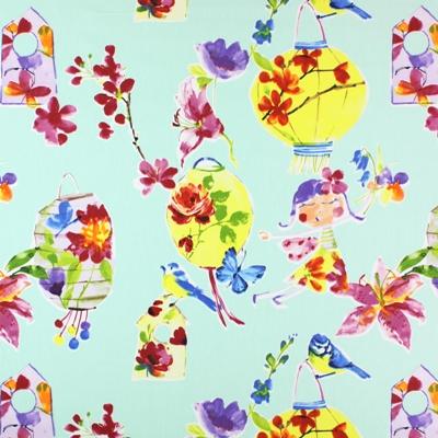 Lily Lantern Paradise   100% cotton    137cm |64cm    Embroidery