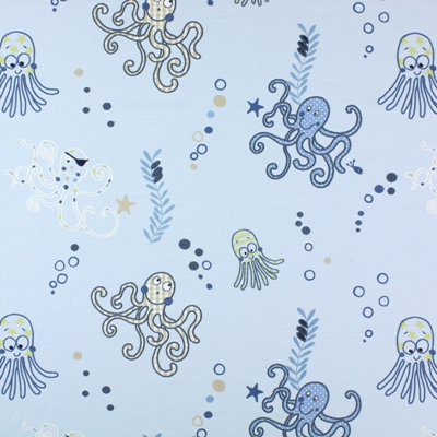 Octupus Denim   100% cotton    140cm (useable 125cm) | 46cm    Embroidery