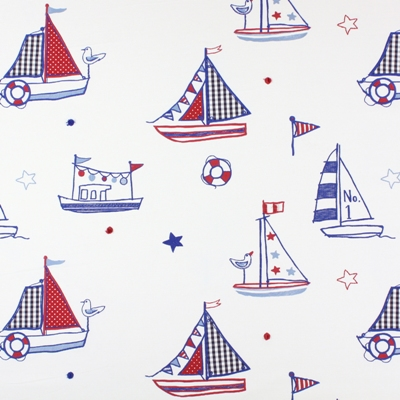 Regatta Marine   100% cotton    140cm (useable 122cm) |   47cm    Embroidery