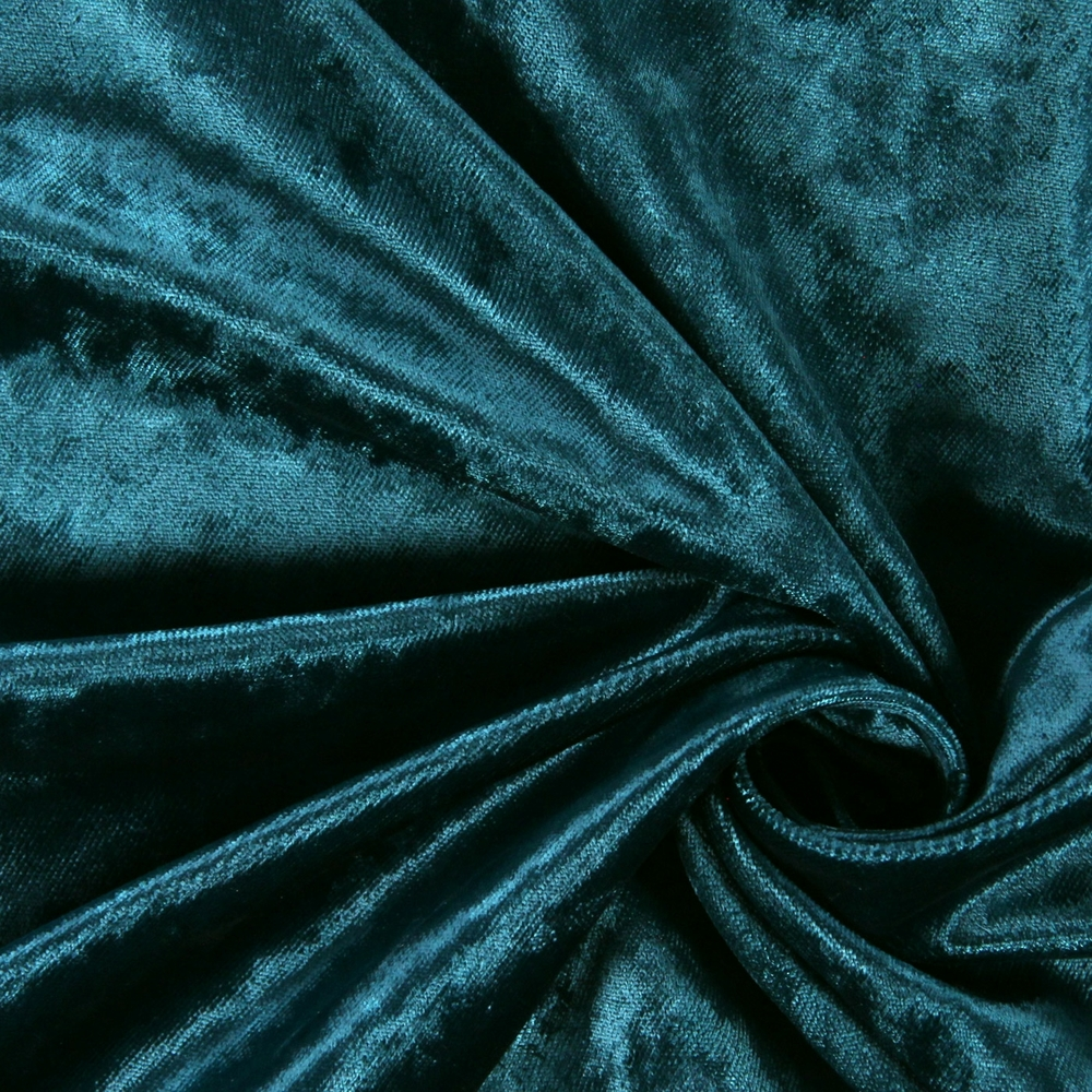 Luxuriant Teal 100% polyester 141cm | Plain Curtaining