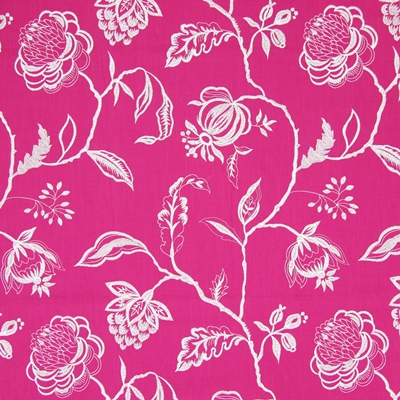 Lahini Fuchsia   64% viscose/ 27% linen/ 9% polyester    145cm (useable 130cm) |   47.5cm    Embroidery