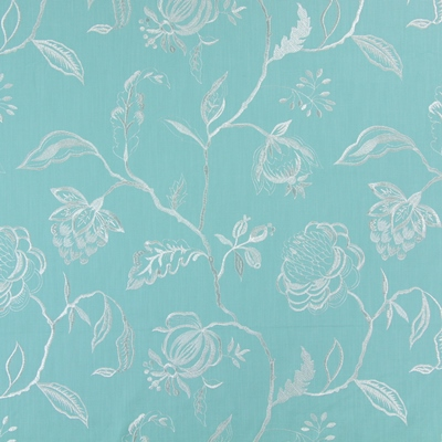 Lahini Turquoise    64% viscose/ 27% linen/ 9% polyester    145cm (useable 130cm) |   47.5cm    Embroidery
