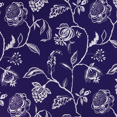 Lahini Indigo 64% viscose/ 27% linen/ 9% polyester 145cm (useable 130cm) | 47.5cm Embroidery