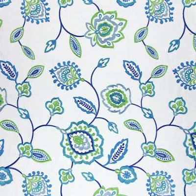 Lovina Indigo 58% polyester/ 42% cotton 142cm (useable 130cm) |45.5cm Embroidery