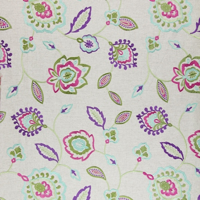 Lovina Topaz   58% polyester/ 42% cotton    142cm (useable 130cm) | 45.5cm    Embroidery